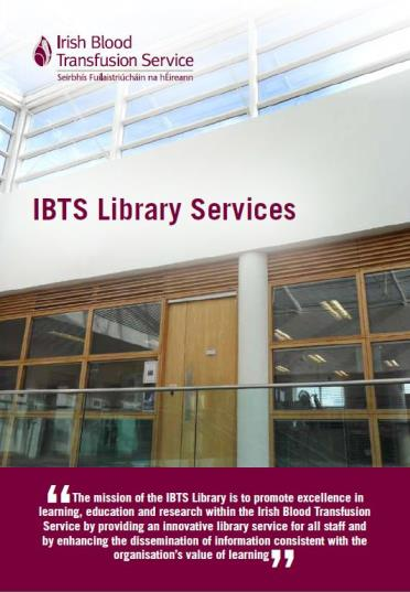 Irish Blood Transfusion Service (IBTS) Library