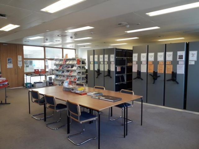 Irish Blood Transfusion Service (IBTS) Library seating area