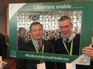 Jerome Coffey and Brendan Leen promoting evidence informed healthcare