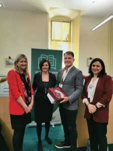 Left to right Aoife Lawton, Rachel Wilkinson, Des Crowley and Dr Ana Terre