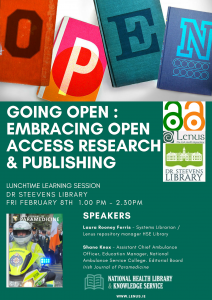 Open Access Publishing event Feb 8th