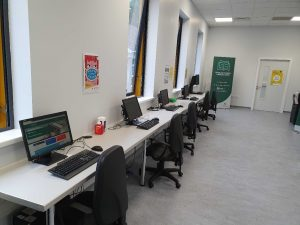 Computer area in Library